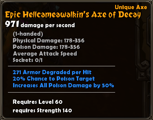 Epic Hellcameawalkin's Axe of Decay