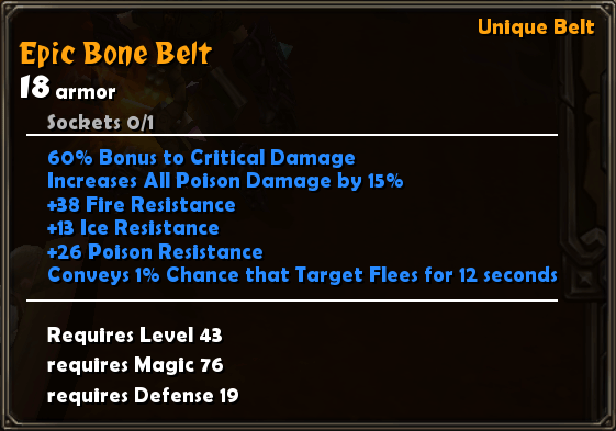 Epic Bone Belt