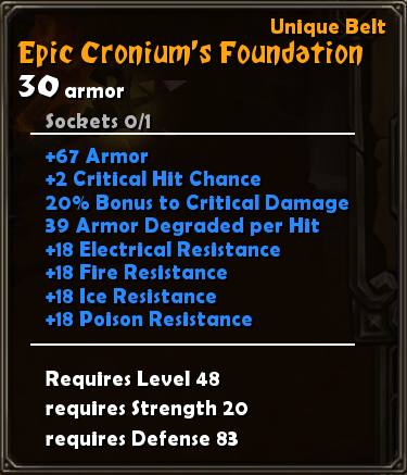 Epic Cronium's Foundation