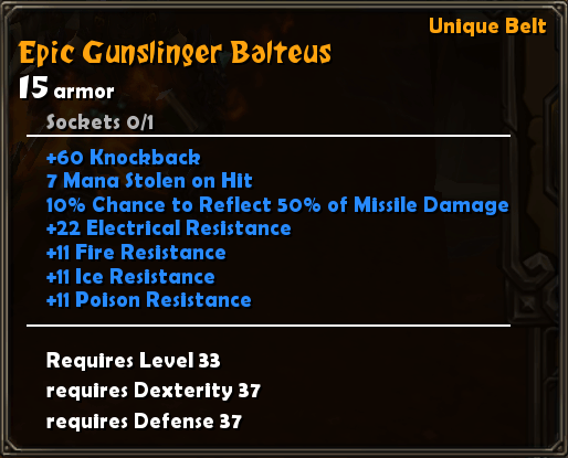 Epic Gunslinger Balteus