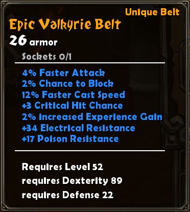 Epic Valkyrie Belt