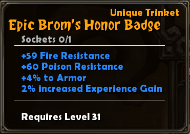 Epic Brom's Honor Badge