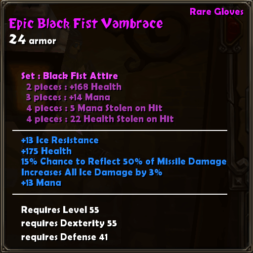 Epic Black Fist Vambrace