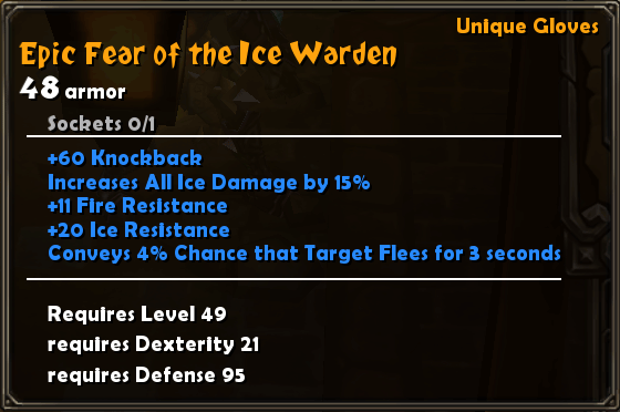 Epic Fear of The Ice Warden