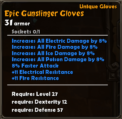 Epic Gunslinger Gloves