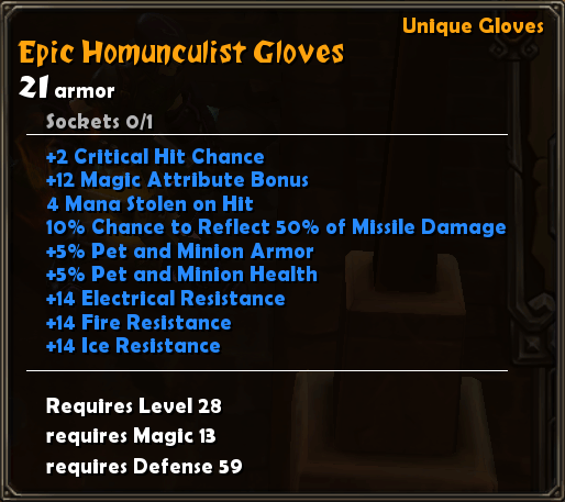 Epic Homuncultist Gloves