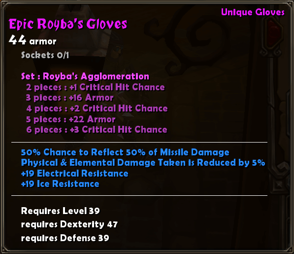 Epic Royba's Gloves
