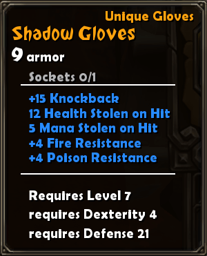 Shadow Gloves