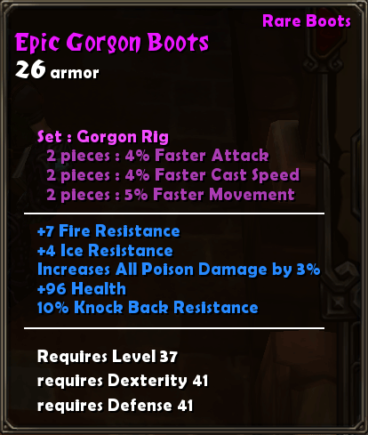 Epic Gorgon Boots