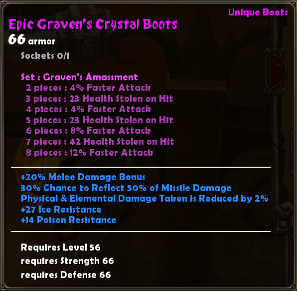 Epic Graven's Crystal Boots