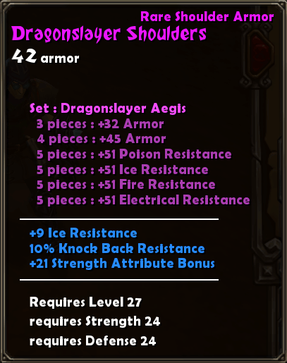 Dragonslayer Shoulders