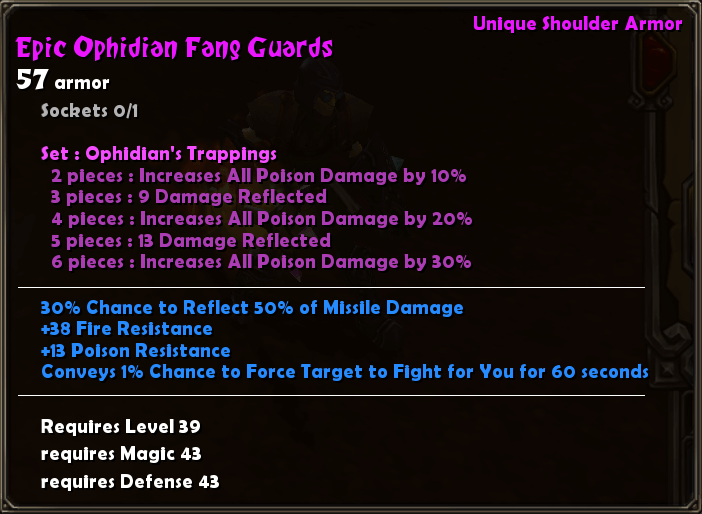 Epic Ophidian Fang Guards